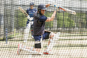 Cameron White of Victoria takes part in a net session at the Melbourne Cricket Ground on October 24, 2018 in Melbourne, Australia.