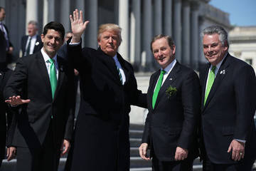 Peter King Trump, Paul Ryan Attend Traditional Congressional Luncheon for Irish PM