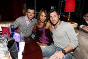 (L to R) Tony Dovolani, Cheryl Burke and Maksim Chmerkovskiy inside Peter Travers and Editors of Rolling Stone Host Awards Weekend Bash at Drai's Hollywood - Inside at Drai's Hollywood on February 26, 2011 in Hollywood, California.