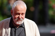Mike Leigh walks the red carpet ahead of the 'Peterloo' screening during the 75th Venice Film Festival at Sala Grande on September 1, 2018 in Venice, Italy.