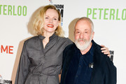 """Maxine Peake and Mike Leigh attend the UK Premiere of """"Peterloo"""" at HOME during the 62nd BFI London Film Festival on October 17, 2018 in Manchester, England."""