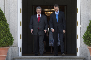 Petro Poroshenko Spanish Royals Host An Official Lunch for President Of Ukraine And His Wife At Zarzuela Palace