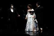 """Sierra Boggess and Hugh Panaro (L) attend """"The Phantom of the Opera"""" attend """"The Phantom Of The Opera"""" Broadway 25th Anniversary at Majestic Theatre on January 26, 2013 in New York, New York."""