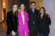 (L to R) Lucy Yeomans, Editor-in-Chief of PORTER magazine, Vicky Krieps, Paul Thomas Anderson and Vassi Chamberlain, Features DIrector at PORTER magazine, attend an exclusive screening of 'Phantom Thread' hosted by Universal Pictures in partnership with PORTER at the Victoria and Albert Museum on January 27, 2018 in London, England.