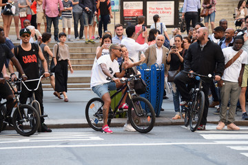 Pharrell Williams G-Star RAW and Pharrell Williams Open Flagship Store on Fifth Avenue