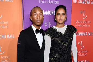 Pharrell Williams Helen Lasichanh Rihanna's 5th Annual Diamond Ball Benefitting The Clara Lionel Foundation - Arrivals