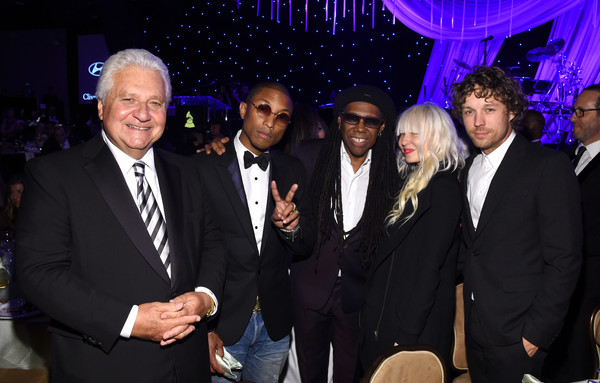 Pre-GRAMMY Gala And Salute To Industry Icons Honoring Martin Bandier - Backstage And Audience [event,suit,formal wear,tuxedo,erik anders lang,audience,martin bandier,chairman,artists,ceo,nile rodgers,l-r,martin bandier - backstage,pre-grammy gala and salute to industry icons]