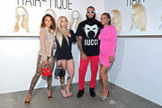 (L-R) Karrueche Tran, Ry Dope, Phillip Riian and Christina Milian attend The Hair-Tique presented by Phil On Hair at Goya Studios on September 21, 2019 in Los Angeles, California.