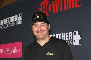 Phil Hellmuth SHOWTIME, WME|IMG, and MAYWEATHER PROMOTIONS VIP Pre-Fight Party Arrivals on the T-Mobile Magenta Carpet for Mayweather VS McGregor