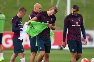Phil Jagielka England Training Session And Press Conference