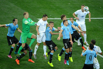 Phil Jagielka Uruguay v England: Group D