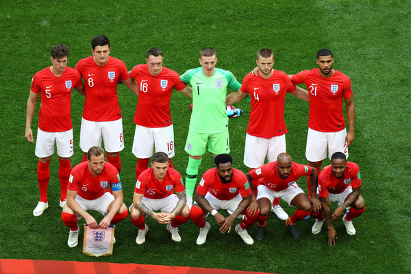 Belgium vs. England: 3rd Place Playoff - 2018 FIFA World Cup Russia [team photo,team,football player,team sport,soccer player,player,sport venue,sports,stadium,ball game,tournament,players,russia,england,belgium,saint petersburg stadium,3rd place playoff - 2018 fifa world cup,match,russia 3rd place playoff,2018 fifa world cup]