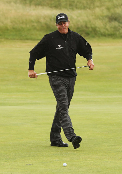 Phil Mickelson Phil Mickelson of the United States misses a birdie putt on the eighth green during the final round of The 140th Open Championship at Royal St George's on July 17, 2011 in Sandwich, England.