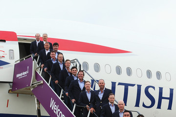 Phil Mickelson Keegan Bradley USA Team Arrives in Edinburgh