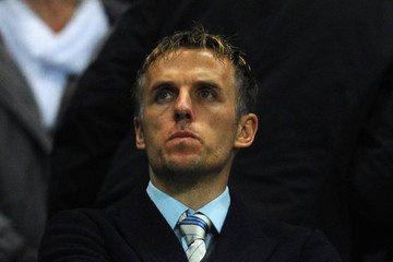 Phil Neville Manchester City v Blackburn Rovers