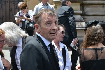 Phil Rudd Malcolm Young Funeral Service