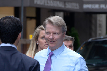 Phil Simms Celebs at the CBS Upfront