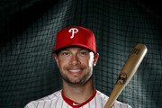 Daniel Nava #25 of the Philadelphia Phillies poses for a portrait during the Philadelphia Phillies photo day on February 20, 2017 at Spectrum Field in Clearwater, Florida.