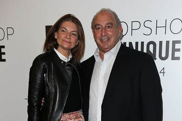 Philip Green Topshop Unique: Front Row - London Fashion Week AW14