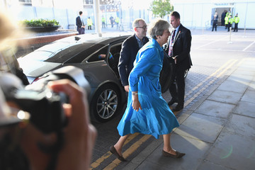 Philip May Politicians Arrive For Conservative Party Conference