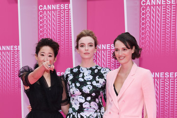 Phoebe Waller-Bridge Jodie Comer 'Killing Eve' and 'When Heroes Fly' Pink Carpet Arrivals - The 1st Cannes International Series Festival