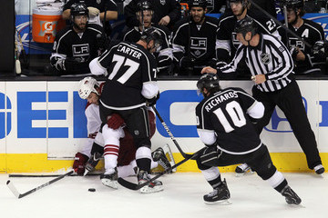 Mike Richards Jeff Carter Phoenix Coyotes v Los Angeles Kings - Game Three