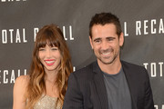 """Actors Jessica Biel and Colin Farrell attend the photo call for Columbia Pictures' """"Total Recall"""" held at the Four Seasons Hotel on July 28, 2012 in Los Angeles, California."""