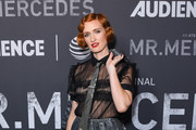 """Breeda Wool attends photo call for AT&T AUDIENCE Network's """"Mr. Mercedes"""" special SAG screening at Linwood Dunn Theater on September 10, 2019 in Los Angeles, California."""