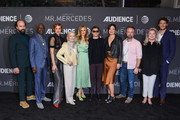 """Brett Gelman, Glynn Turman, Breeda Wool, Holland Taylor, Justine Lupe, Rarmian Newton, Claire Bronson, Josh Daugherty, Kate Mulgrew and Gabriel Ebert attend photo call for AT&T AUDIENCE Network's """"Mr. Mercedes"""" special SAG screening at Linwood Dunn Theater on September 10, 2019 in Los Angeles, California."""