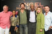 "Nick Nolte, Jada Pinkett Smith, Gerard Butler, Morgan Freeman, Piper Perabo and Ric Roman Waugh attend the Photocall For Lions Gate's ""Angel Has Fallen"" at the Beverly Wilshire Four Seasons Hotel on August 16, 2019 in Beverly Hills, California."