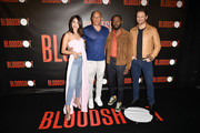 "Director Dave Wilson, Eiza Gonzalez, Vin Diesel, Lamorne Morris and Sam Heughan attends a Photocall Of Sony Pictures' ""Bloodshot"" at The London Hotel on March 06, 2020 in West Hollywood, California."
