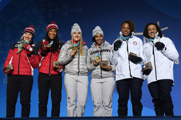 Phylicia George Elana Meyers-Taylor Medal Ceremony - Winter Olympics Day 13
