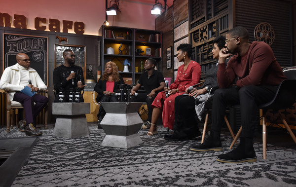 'David Makes Man' Clips & Conversations [clips,sitting,conversation,human,event,street,photography,flooring,leisure,city,tourism,david makes man clips,akili mcdowell,alana arenas,dee harris-lawrence,tarell alvin mccraney,phylicia rashad,l-r,brickson diamond,conversations]