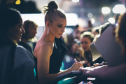 Image was altered with digital filters.) Natalie Dormer writes autographs as she attends the 'Picnic at Hanging Rock' premiere during the 14th Zurich Film Festival at Festival Centre on October 05, 2018 in Zurich, Switzerland.