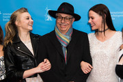 Natalie Dormer, festival director Dieter Kosslick and Lola Bessis attend the 'Picnic at Hanging Rock' premiere during the 68th Berlinale International Film Festival Berlin at Zoo Palast on February 19, 2018 in Berlin, Germany.