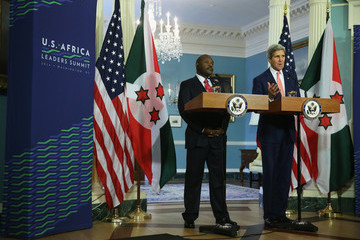 Pierre Nkurunziza John Kerry Meets with African Leaders