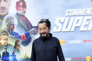 """Pierre Sang Premiere Of The Movie """"How Did I Become A Super Hero"""" At Cour Carre Du Louvre"""