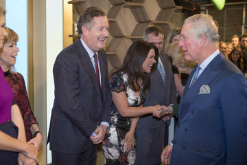 Piers Morgan The Prince of Wales and the Duchess of Cornwall Visit the Royal Television Society