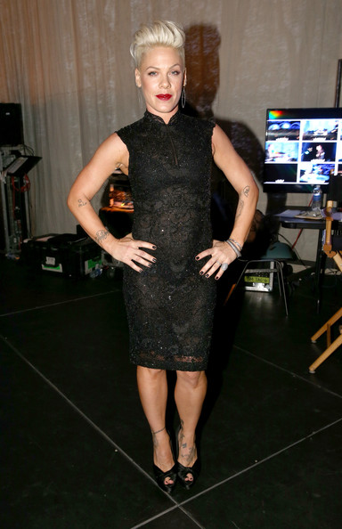 Pink Singer Pink attends 2014 MusiCares Person Of The Year Honoring Carole King at Los Angeles Convention Center on January 24, 2014 in Los Angeles, California.
