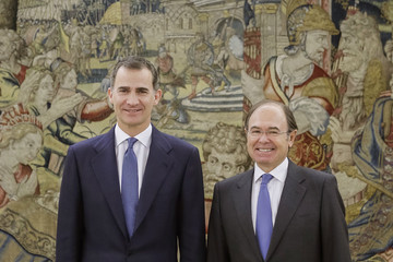 Pio Garcia Escudero King Felipe of Spain Meets President of the Congress and President of the Senate