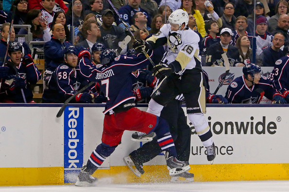Jack Johnson in Pittsburgh Penguins v Columbus Blue Jackets - Zimbio