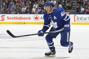 Tyler Bozak #42 of the Toronto Maple Leafs skates against the Pittsburgh Penguins during an NHL game at the Air Canada Centre on March 10, 2018 in Toronto, Ontario, Canada. The Maple Leafs defeated the Penguins 5-2.
