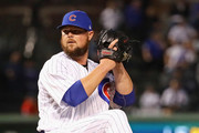 Starting pitcher Jon Lester #34 of the Chicago Cubs delivers the ball against the Pittsburgh Pirates at Wrigley Field on September 27, 2018 in Chicago, Illinois.