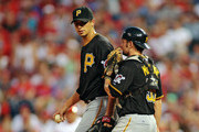 Charlie Morton and Michael McKenry Photos Photo