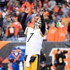 Ben Roethlisberger #7 of the Pittsburgh Steelers reacts after throwing a two-point conversion during the fourth quarter of the game against the Cincinnati Bengals at Paul Brown Stadium on October 14, 2018 in Cincinnati, Ohio. Pittsburgh defeated Cincinnati 28-21.