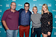 """(L-R) Actors Ed O'Neill, Ty Burrel, Ellen DeGeneres and Kaitlin Olson of FINDING DORY took part today in """"Pixar and Walt Disney Animation Studios: The Upcoming Films"""" presentation at Disney's D23 EXPO 2015 in Anaheim, Calif."""