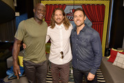 Peter Mensah, Jason Lewis and Dylan Bruce from NBC's 'Midnight Texas attend the Pizza Hut Lounge at 2018 Comic-Con International: San Diego at Andaz San Diego on July 21, 2018 in San Diego, California.