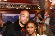 Kendrick Sampson (L) and Nicole Beharie of 'Miss Juneteenth' attend the Pizza Hut x Legion M Lounge during Sundance Film Festival on January 24, 2020 in Park City, Utah.