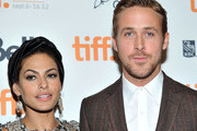 """Actors Eva Mendes and Ryan Gosling attend """"The Place Beyond The Pines"""" premiere during the 2012 Toronto International Film Festival at Princess of Wales Theatre on September 7, 2012 in Toronto, Canada."""
