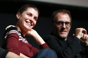 Vittoria Puccini and Valerio Mastandrea attend 'The Place' press conference during the 12th Rome Film Fest at Auditorium Parco Della Musica on November 4, 2017 in Rome, Italy.